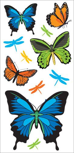 Australian Wildlife BUTTERFLY Wall Art Stickers.