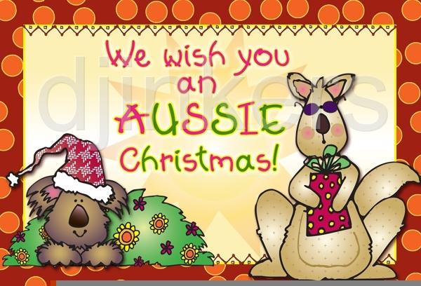 Australian Bush Christmas Clipart.