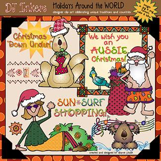 Christmas clip art & printables for Australia by DJ Inkers.
