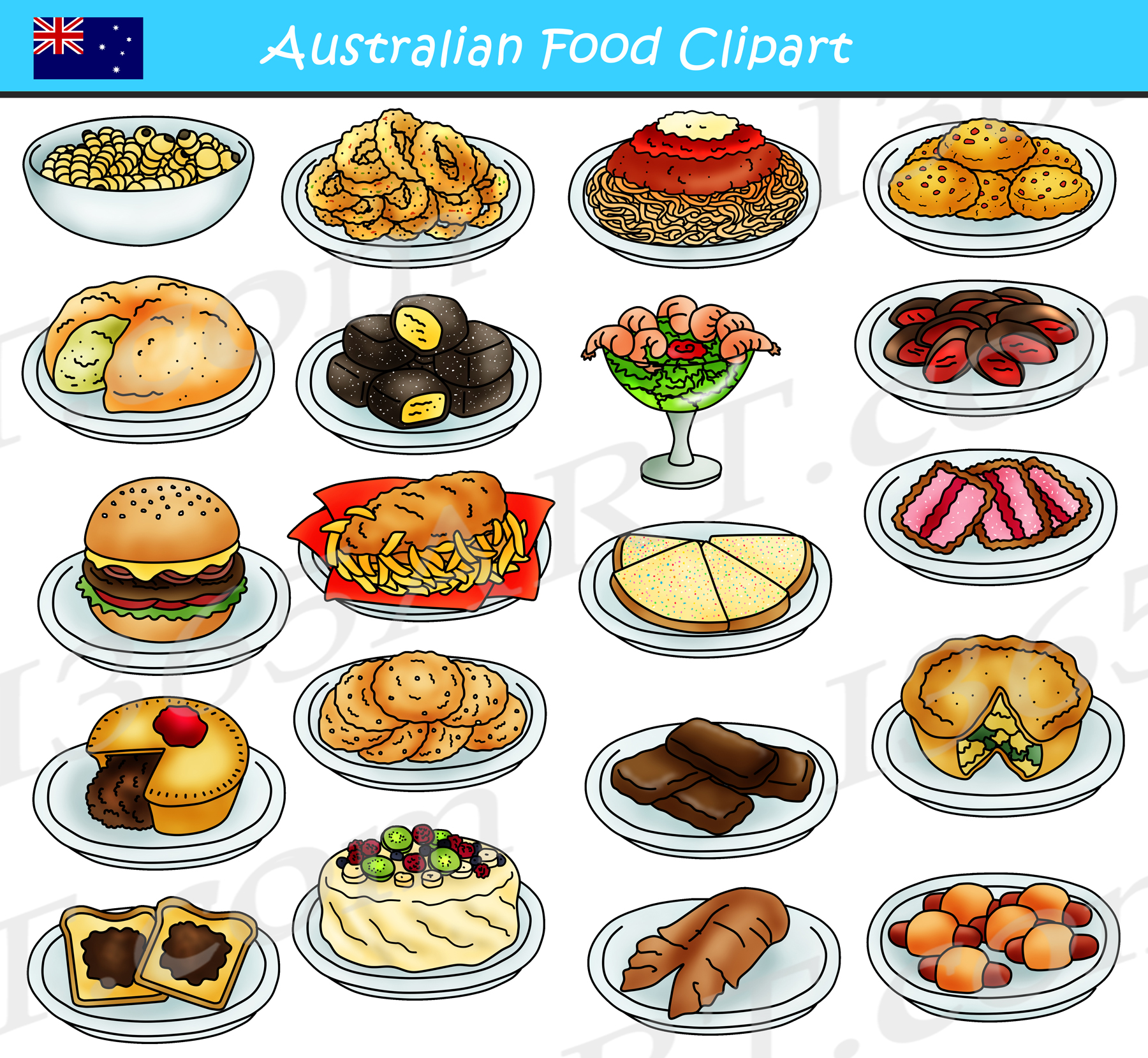 Australian Food Clipart Graphics Download.