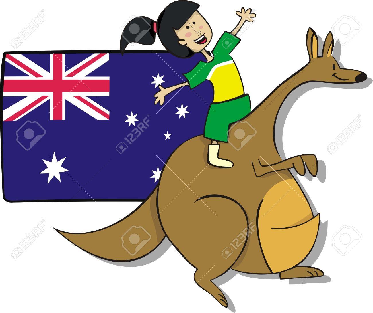Australia girls clipart.