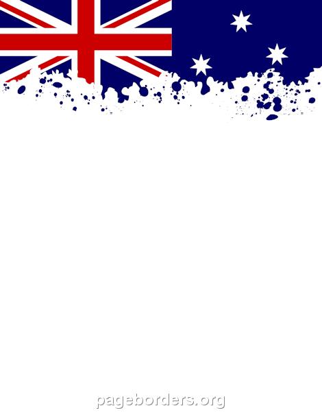 Printable Australian flag border. Use the border in Microsoft Word.