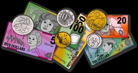 Australian Money Clipart.