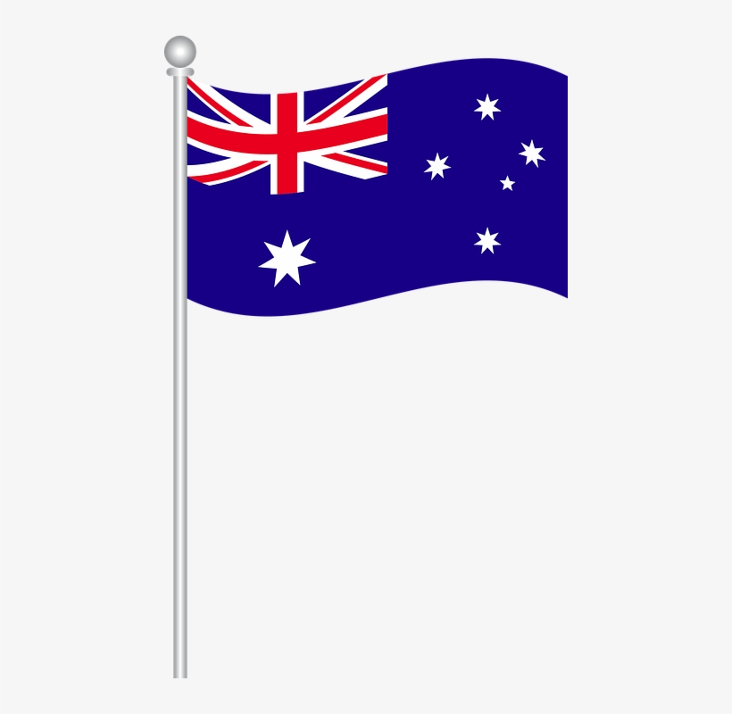 Australian Flag On Pole Png.