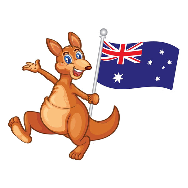 2019 Cute Kangaroo And Australian Flag Vinyl Car Laptop Decal Decor  Accessories Car Accessories From Xymy767, $1.91.