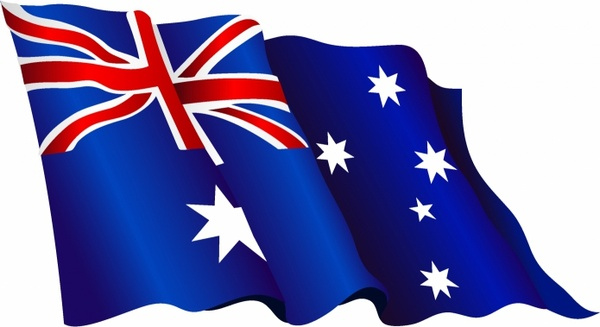 Australian flag Free vector in Adobe Illustrator ai ( .AI.