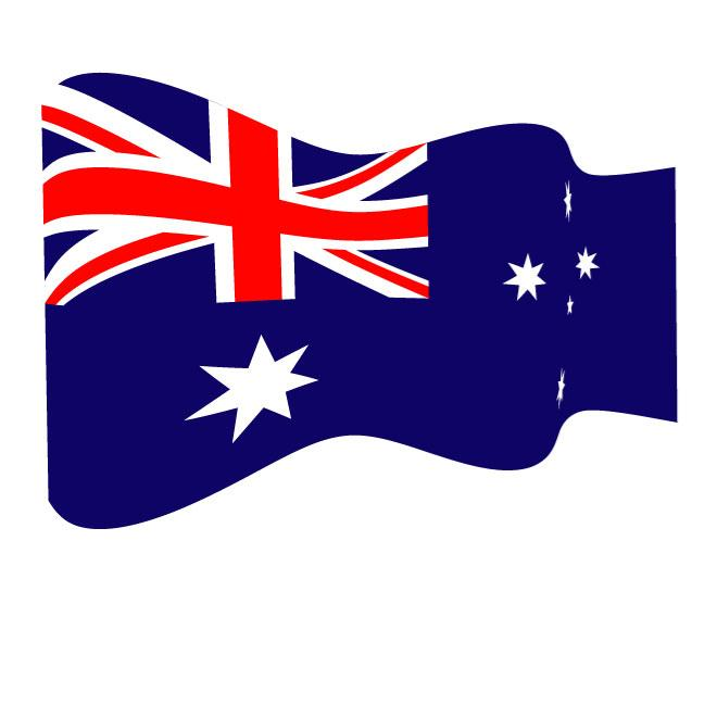 AUSTRALIAN WAVY VECTOR FLAG.