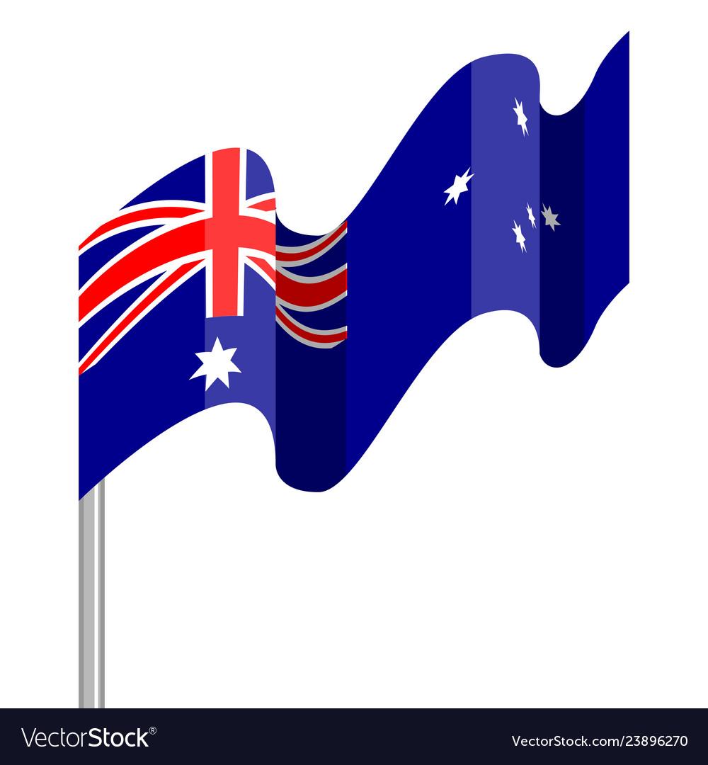 Waving flag of australia.