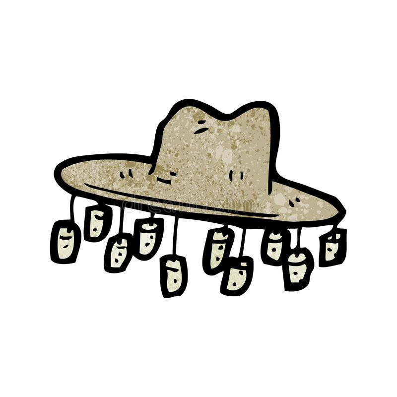 Cartoon old australian hat stock vector. Illustration of.