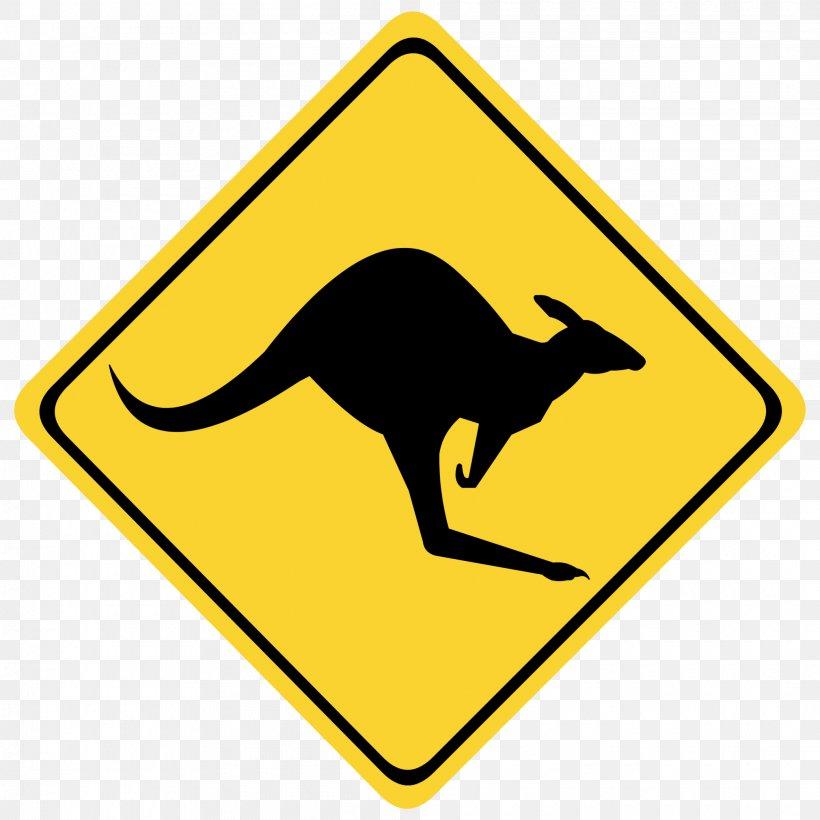 Australia Warning Sign Kangaroo Traffic Sign Clip Art, PNG.