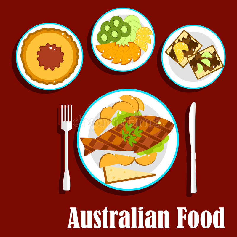Australian Fruit Stock Illustrations.
