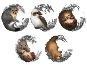 Native Australian Animal Clipart.