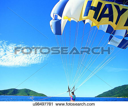 Stock Photography of scenery, Australia, watersports, sky.