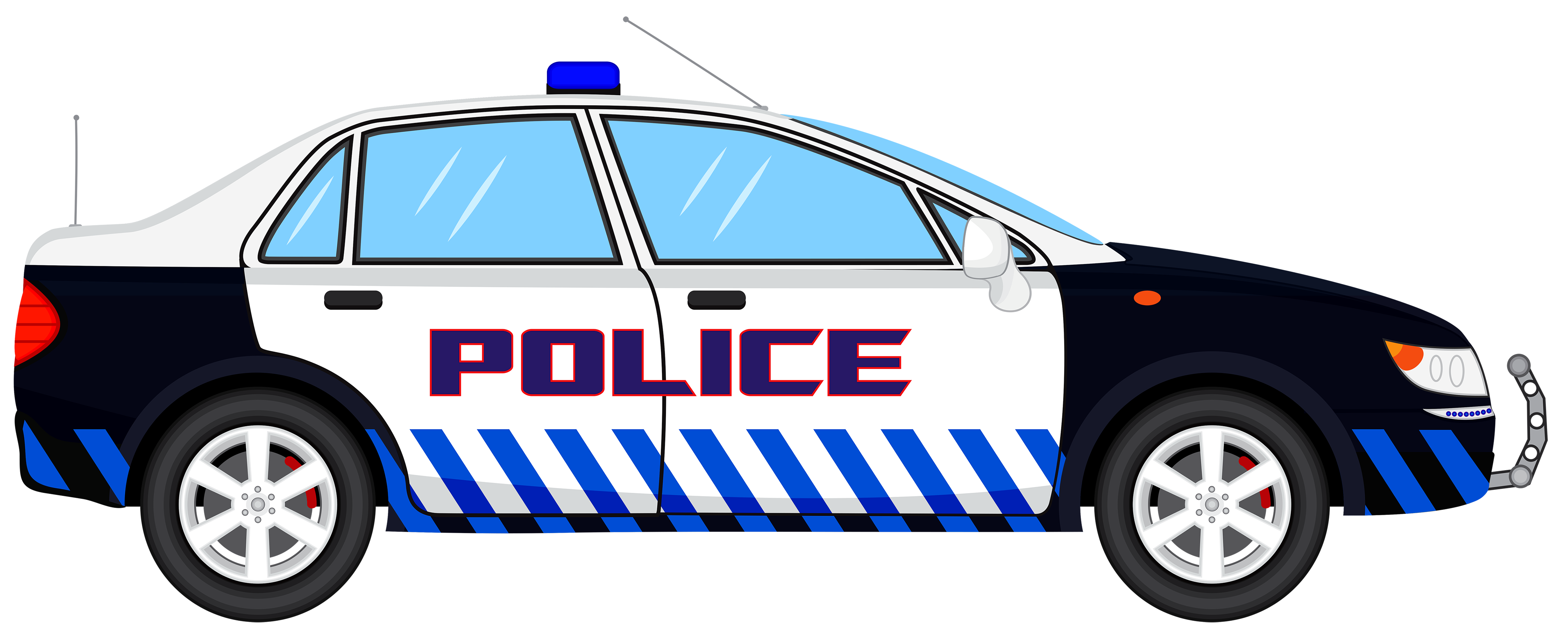 1317 Police Car free clipart.
