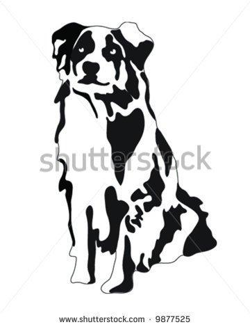 Australian Shepherd Head Clip Art.