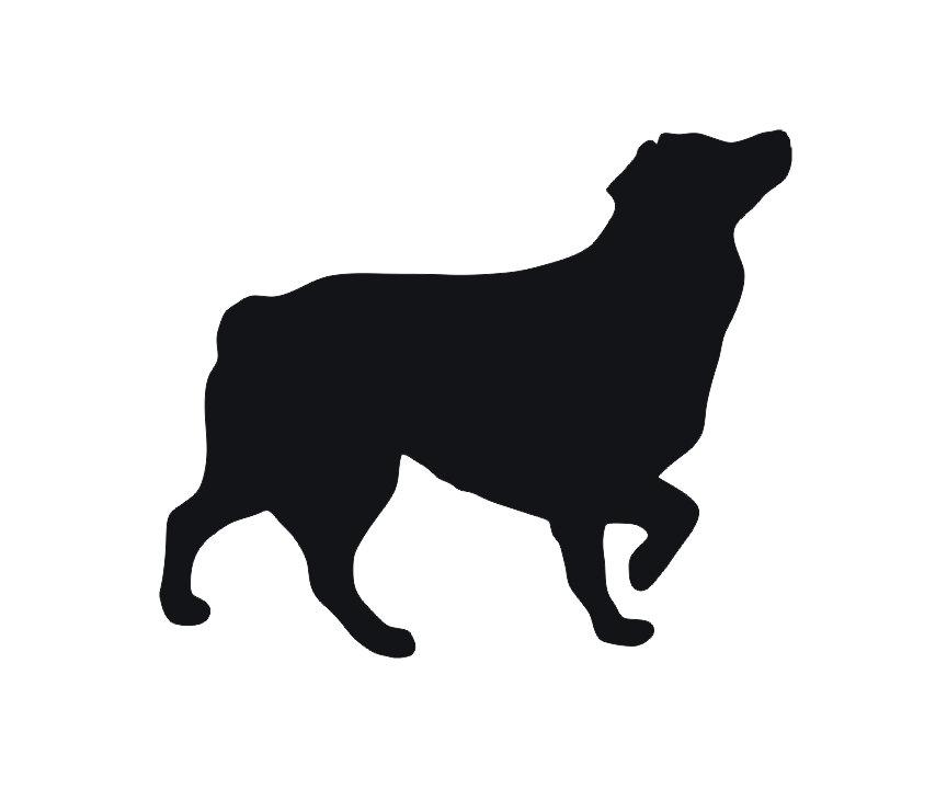 Australian Shepherd Silhouette Clip Art.