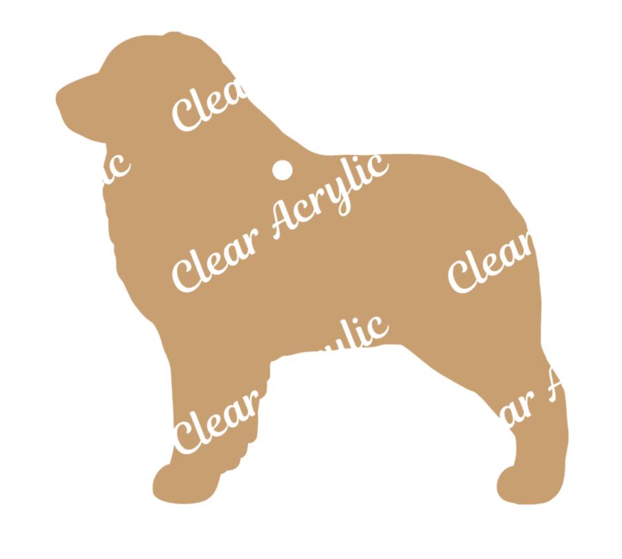 Australian Shepherd Profile Acrylic Blank.