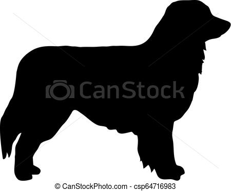 Australian Shepherd silhouette.