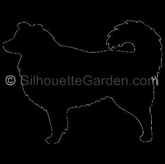 Australian Shepherd Dog Silhouette.