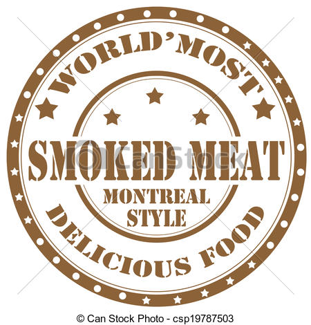 Vector Clipart of Smoked Meat.