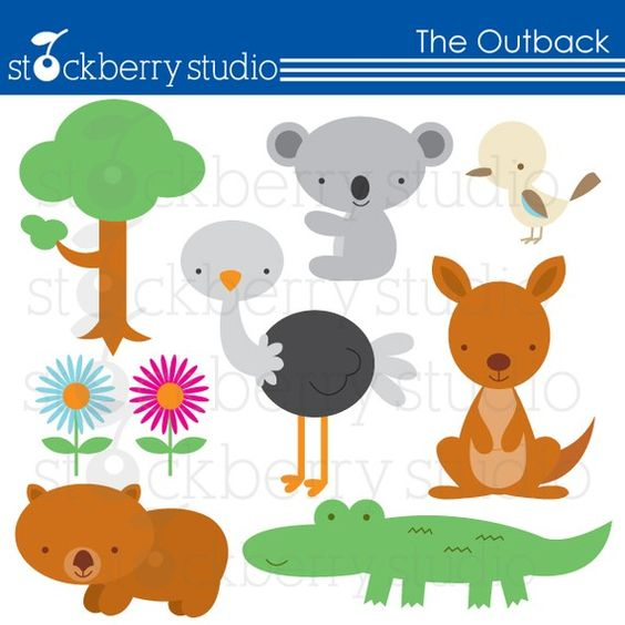 The Outback Australian Animals Personal and by stockberrystudio.