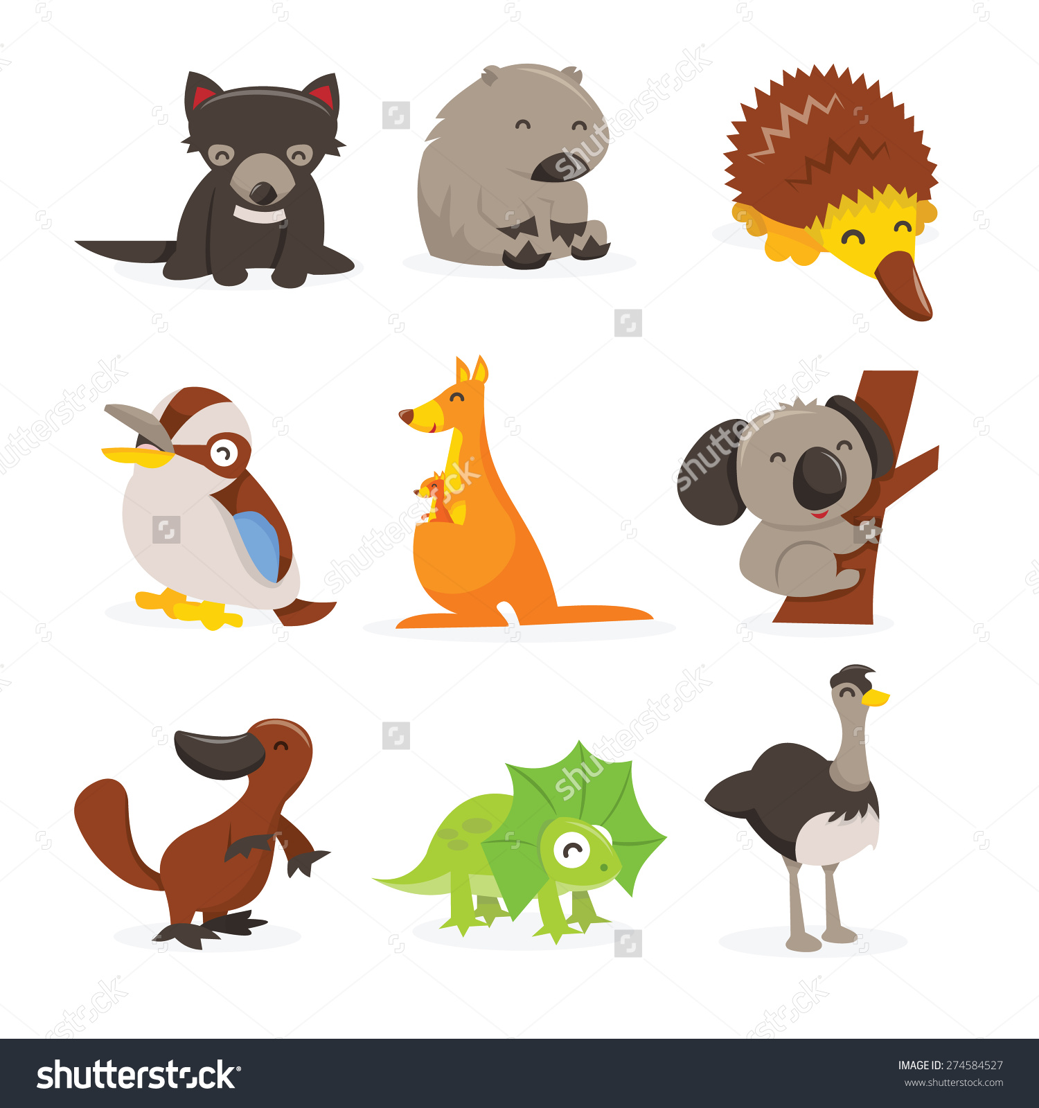 Emu Australian Animals Clip Art.