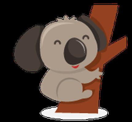 Cute Cartoon Australian Animals Icon Set.