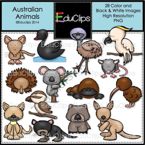 Australian Animals Clip Art Bundle from Educlips on.
