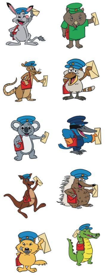 Australia Postal Animals.