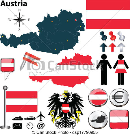 Austria shape Vector Clip Art Royalty Free. 326 Austria shape.