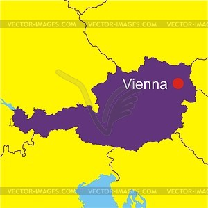 Map of austria clipart.