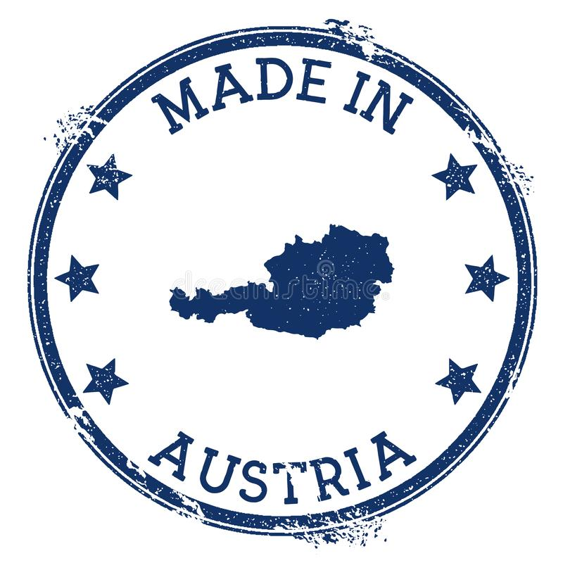 Austria Stamp Stock Illustrations.