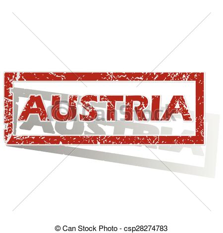Austria outlined stamp.
