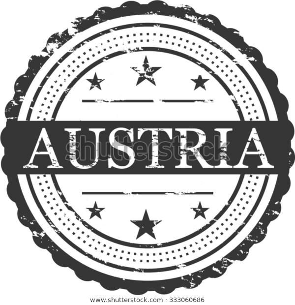Austria Country Grunge Stamp Symbol.
