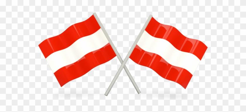 Austria Two Wavy Flags.