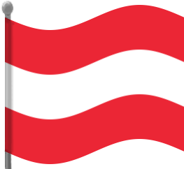 austria flag waving.