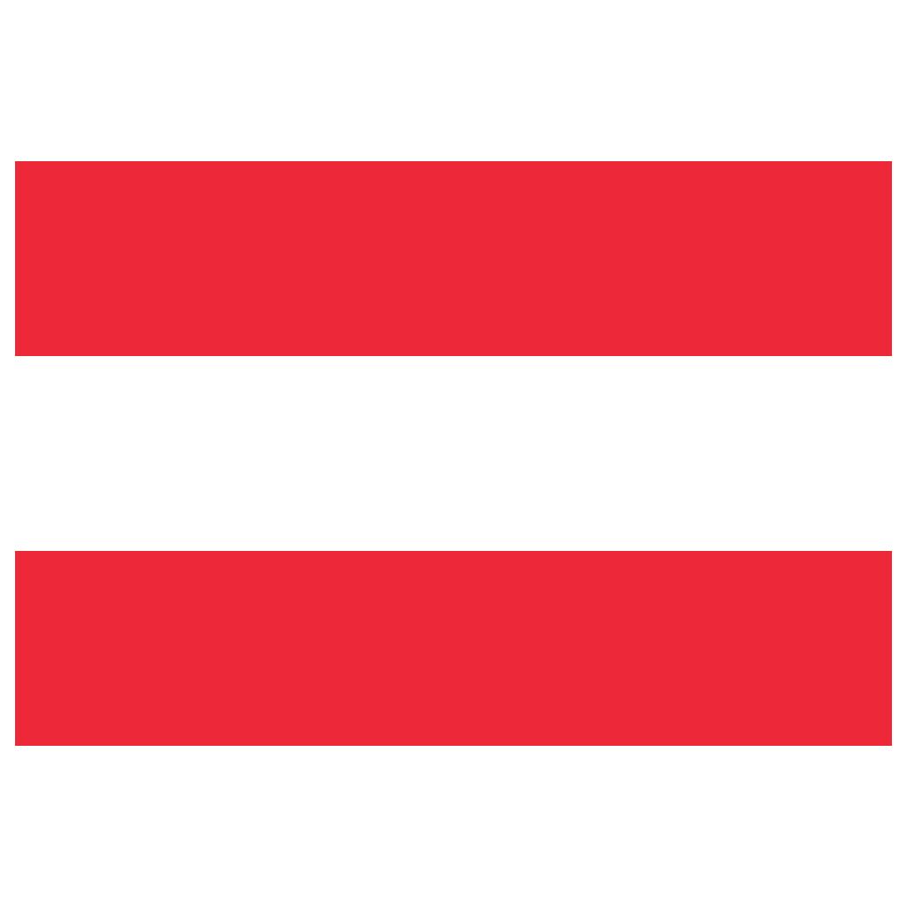 AT Austria Flag Icon.