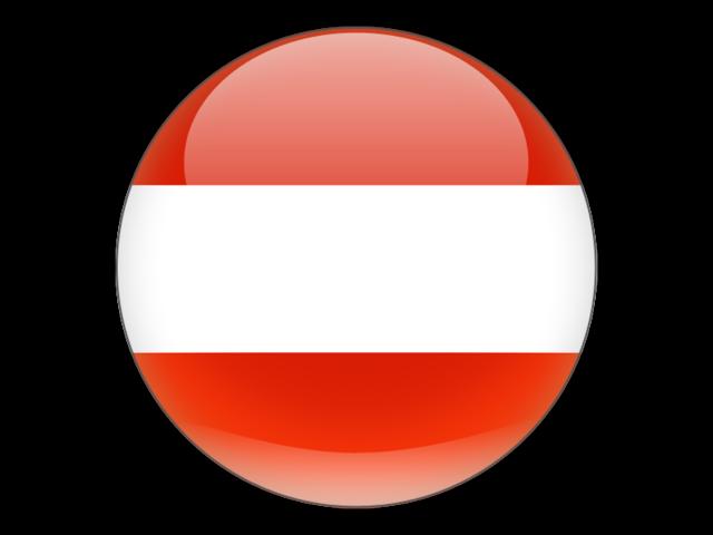 Round icon. Illustration of flag of Austria.