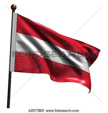 Stock Illustration of Austrian flag u12356749.