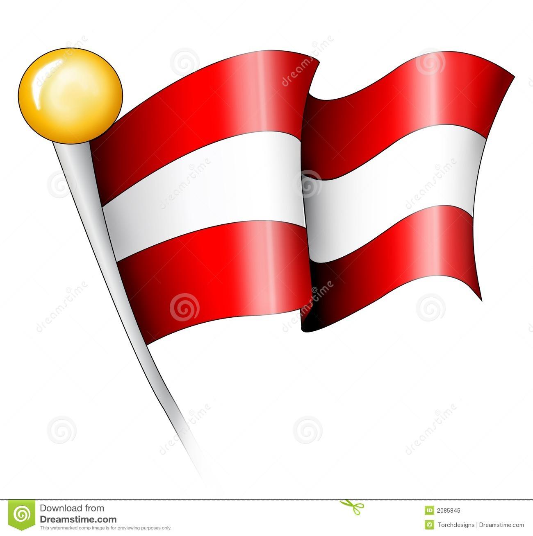 Austrian flag clipart.