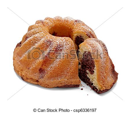 Picture of baking marble chocolate cake sweet food.