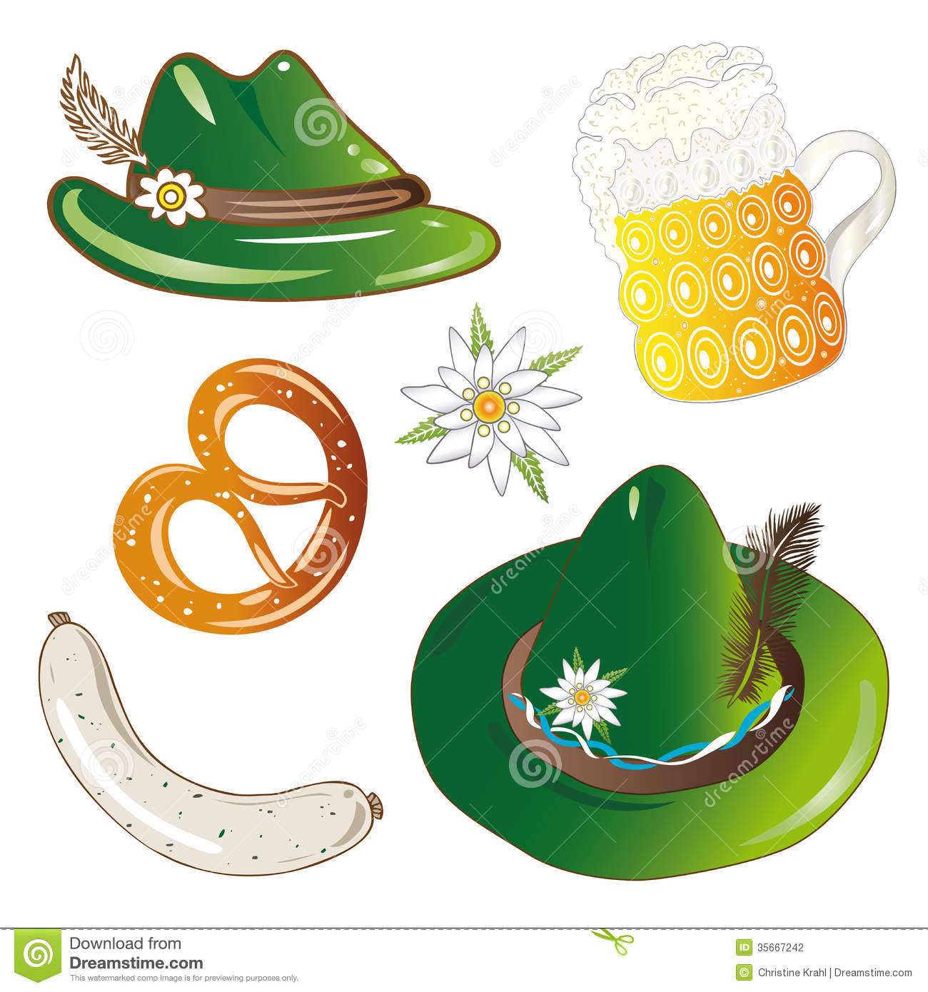 Oktoberfest Hat Clipart.
