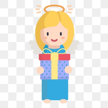 Angels giving gifts clipart clipart images gallery for free.
