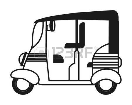 Auto rickshaw clipart black and white 8 » Clipart Station.