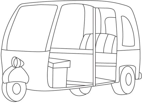 Auto Rickshaw PNG Black And White Transparent Auto Rickshaw.