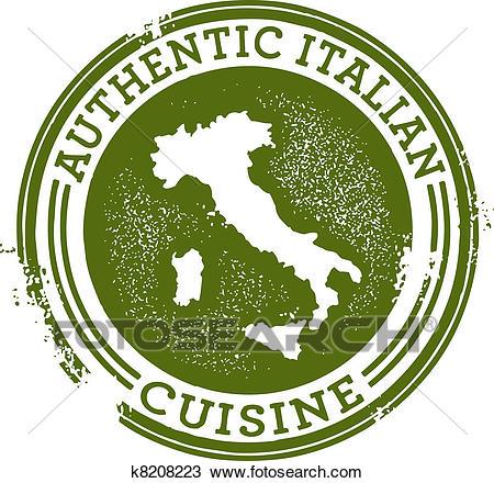 Authentic Italian Food Clipart.