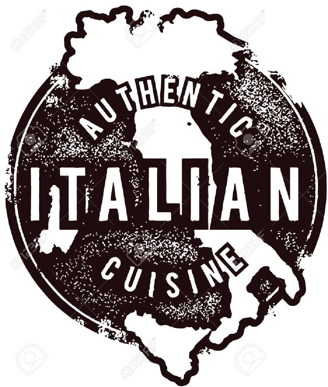 Authentic Italian Restaurant Menu Stmap.