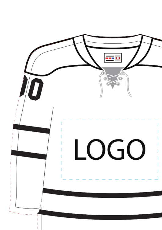 Need a Hockey Jersey Template? Here\'s a free template.