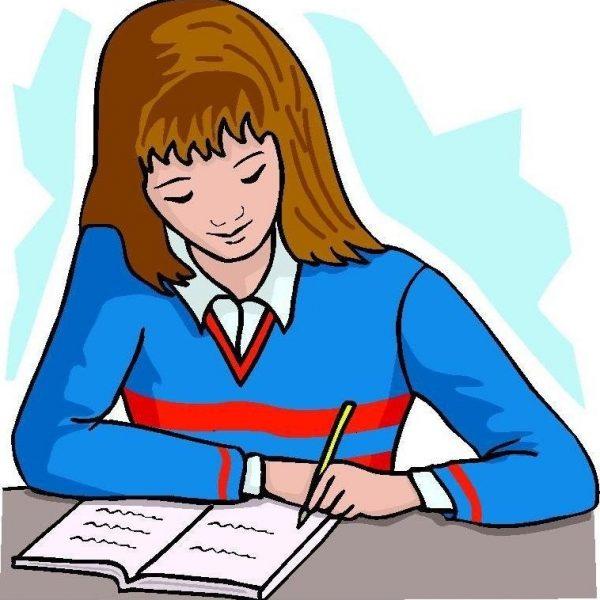 Clipart Writing Female Author.