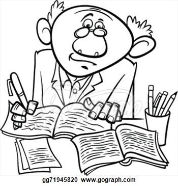 Author clipart script writer, Author script writer.
